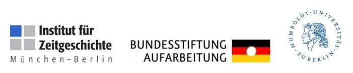 Logo: Institut für Zeitgeschichte München - Berlin, Bundesstiftung zur Aufarbeitung der SED-Diktatur, Humboldt-Universität zu Berlin